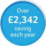 £2,342 saving each year