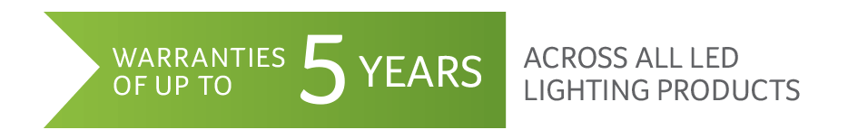 Up to 5 year warranty