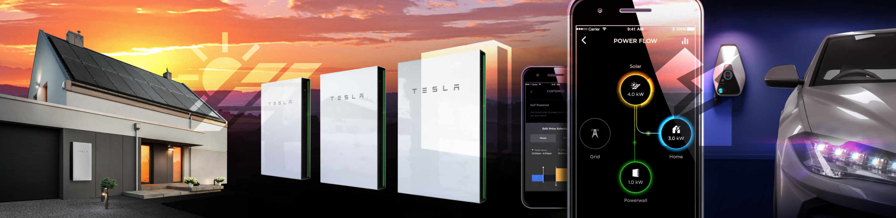collage - Tesla Powerwall