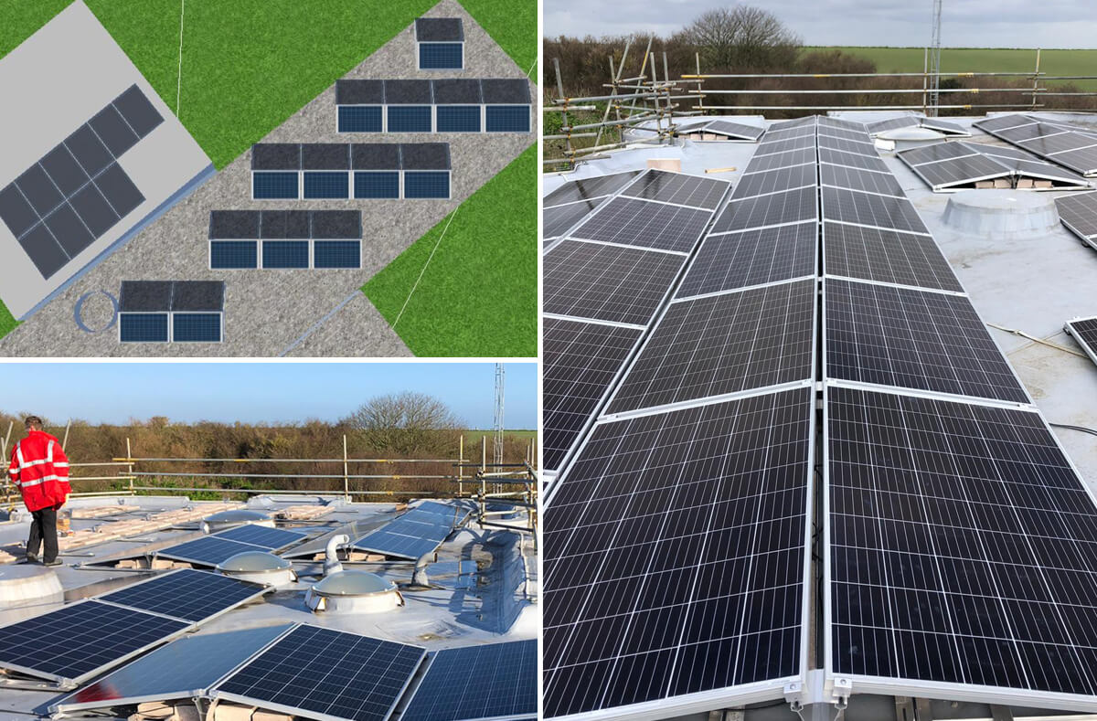 dover left solar - Solar PV case study - Maritime Agency Dover