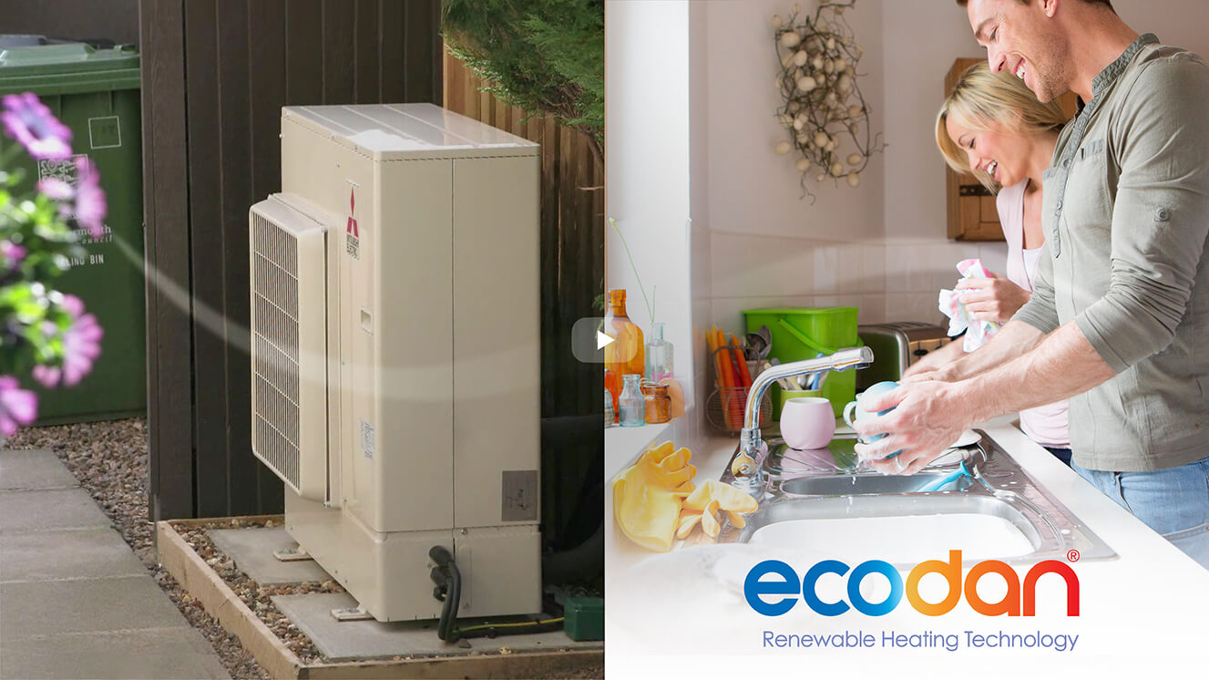 ecodan video thumbnail - Air Source Heat Pumps