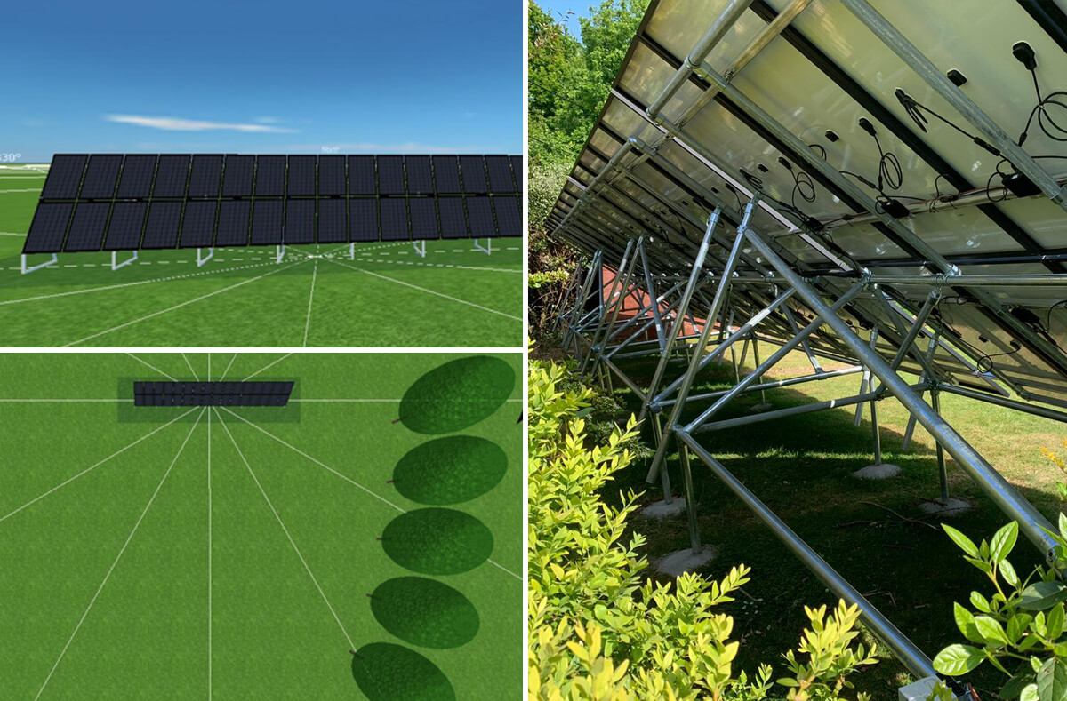 lampitt left solar - Solar Case Study for a ground-mounted system