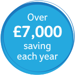 Over £7,000 savings each year