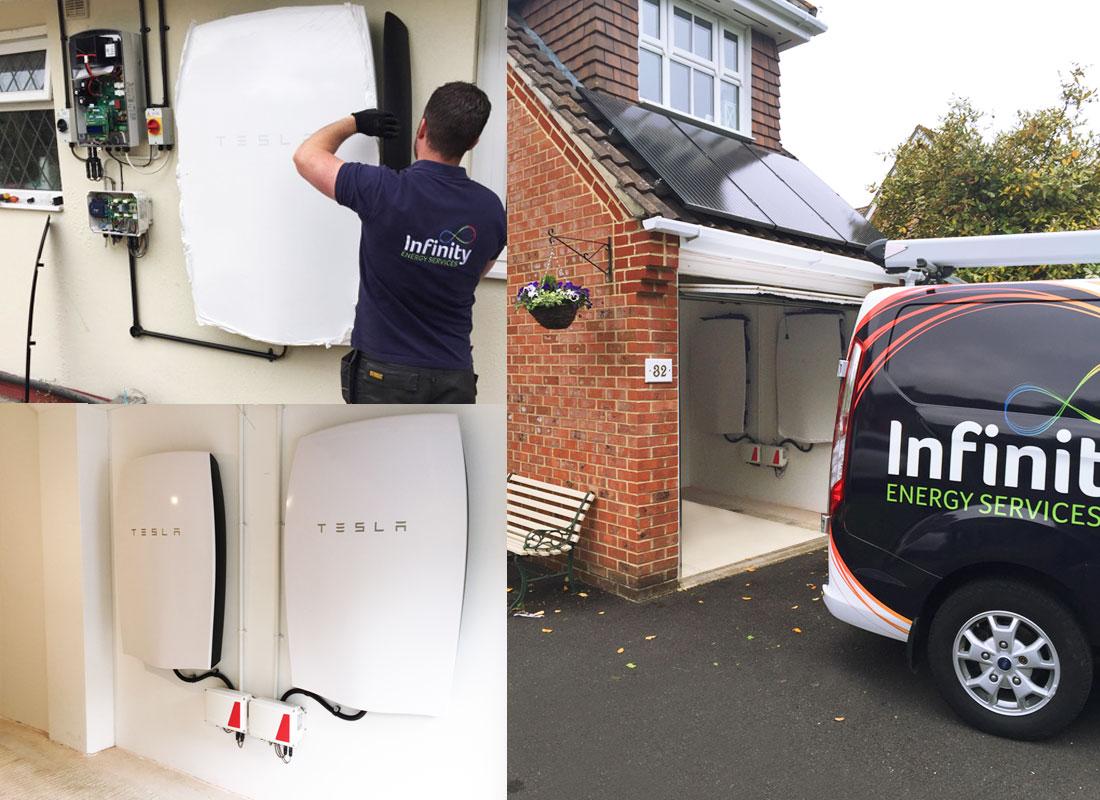 Tesla solar battery install